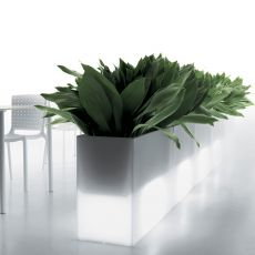 Kado - Pedrali planter, bench or divider in polyethilene of several colours, also for outdoor
