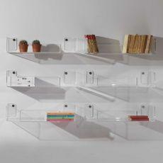Oneone - Mensola moderna a parete, in metacrilato