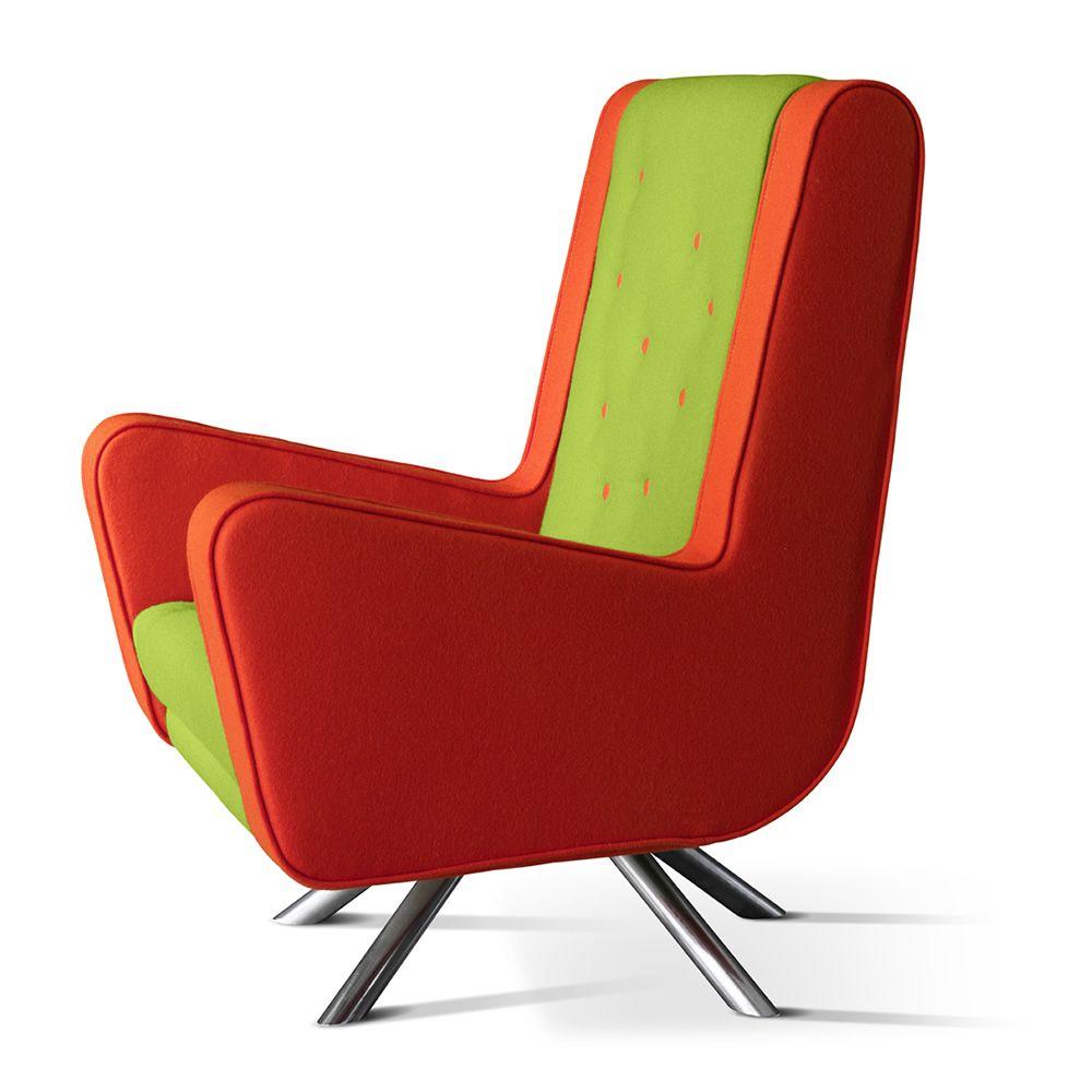 Gulp designer sessel adrenalina mit gestell aus metall for Designer sessel outlet