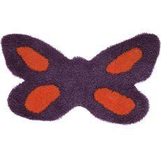 Butterfly - Tappeto forma di fiore, diversi colori disponibili