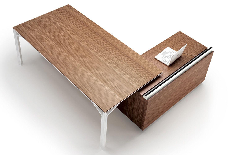 Office x8 01 bureau directionnel avec meuble de rangement en