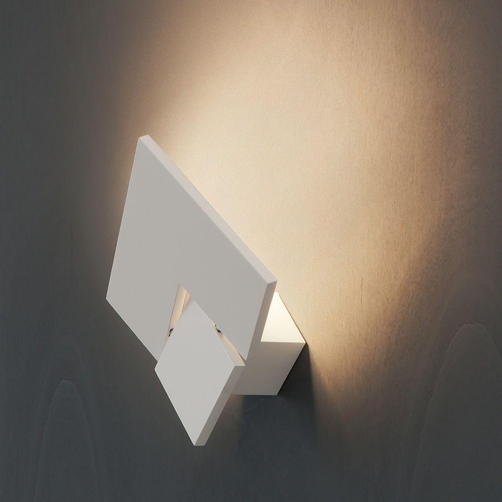 Puzzle twist w lampada da parete di design orientabile in metallo con luce led sediarreda - Lampada parete design ...