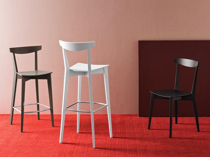 cb1140 evergreen holzhocker connubia calligaris mit sitz aus schichtholz sitzh he 65 oder 80. Black Bedroom Furniture Sets. Home Design Ideas