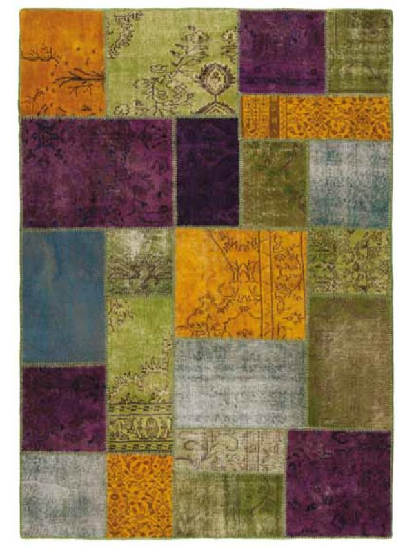 Antalya colours   tappeto moderno colorato in pura lana vergine ...