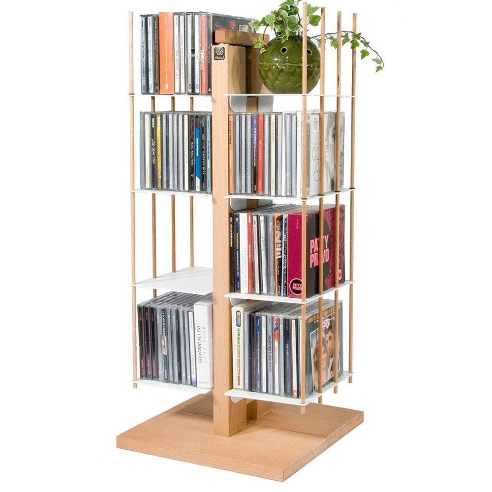 Zia Carmen C: Porta CD de design en madera maciza - Sediarreda