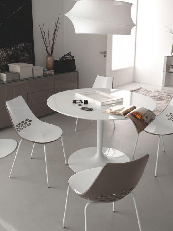 Cs4005 planet tavolo con basamento bianco piano tondo - Tavolo rotondo vetro diametro 120 ...