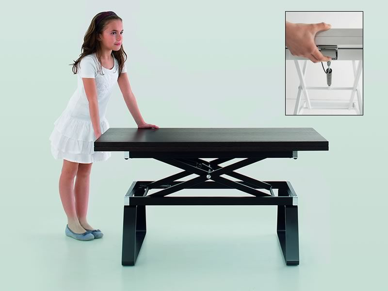 orione petite table transformable en table manger hauteur r glable disponible en. Black Bedroom Furniture Sets. Home Design Ideas