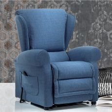 Ambrosia - Electric and adjustable relax armchair, different upholsteries and colours available, totally removable covering, also with Roller system and massage kit
