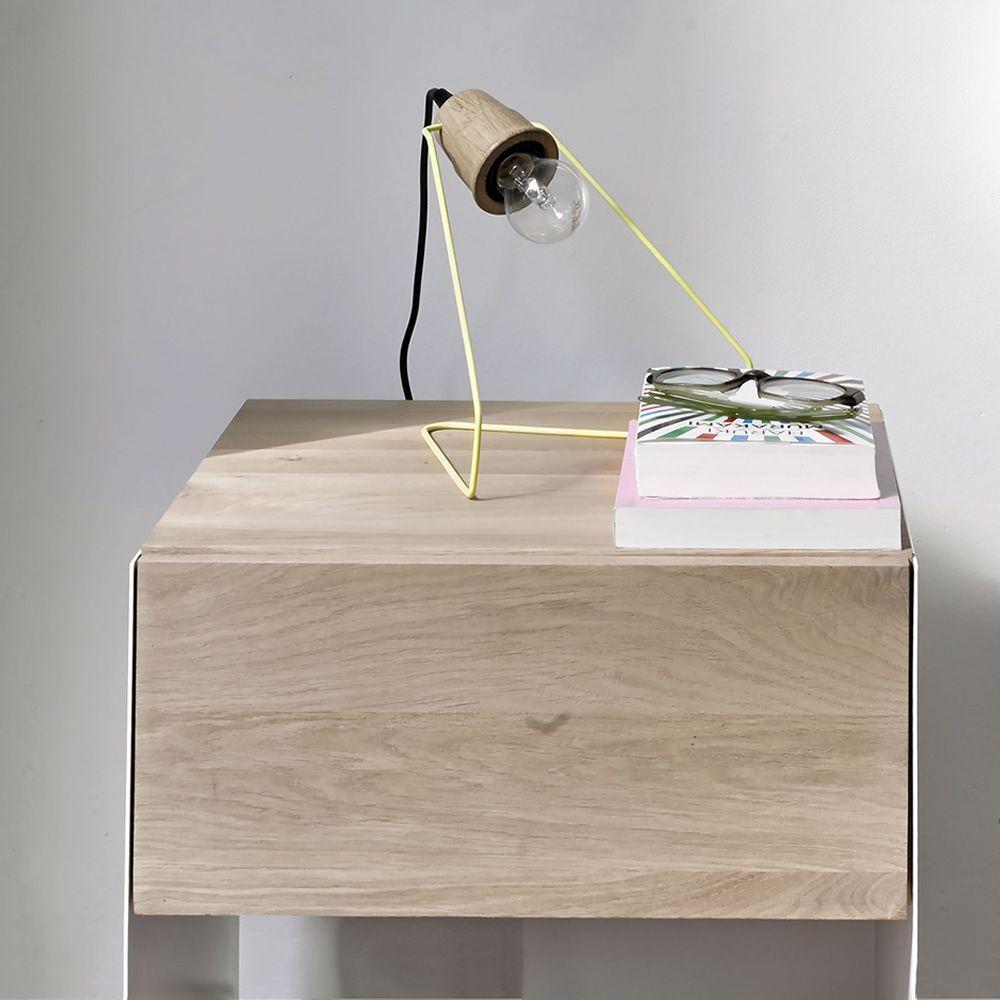 Wattman - Lampada da tavolo in metallo laccato giallo, con ...