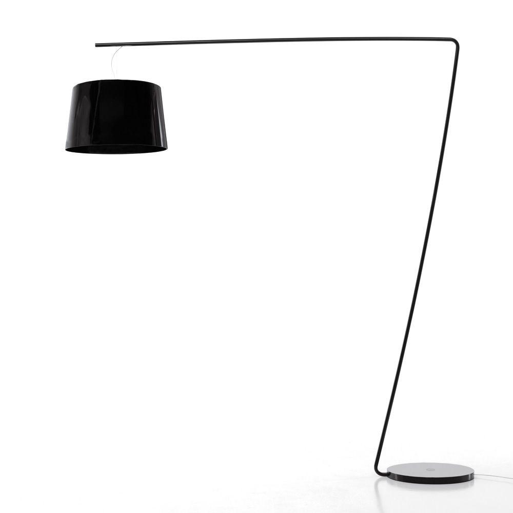 L001t lampada da terra pedrali in metallo e metacrilato for Lampade design outlet