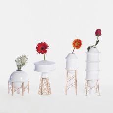 Industry - Florero en cerámica blanca, disponible en distintos modelos