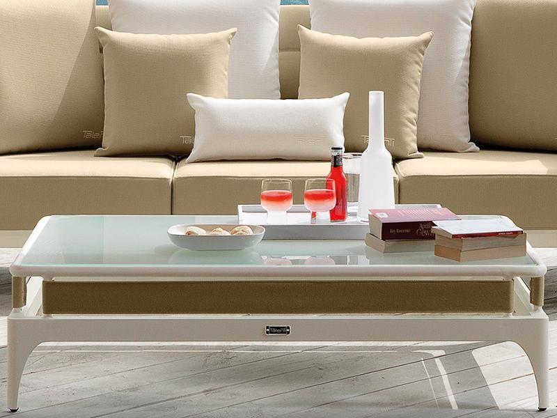 Pad set ensemble de jardin design canap 2 fauteuils et table basse en m tal - Set de table pour table en verre ...