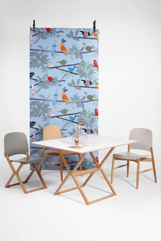 Treee dinner designer tisch klappbar tischplatte 120x90 - Tisch mit stuhle ...