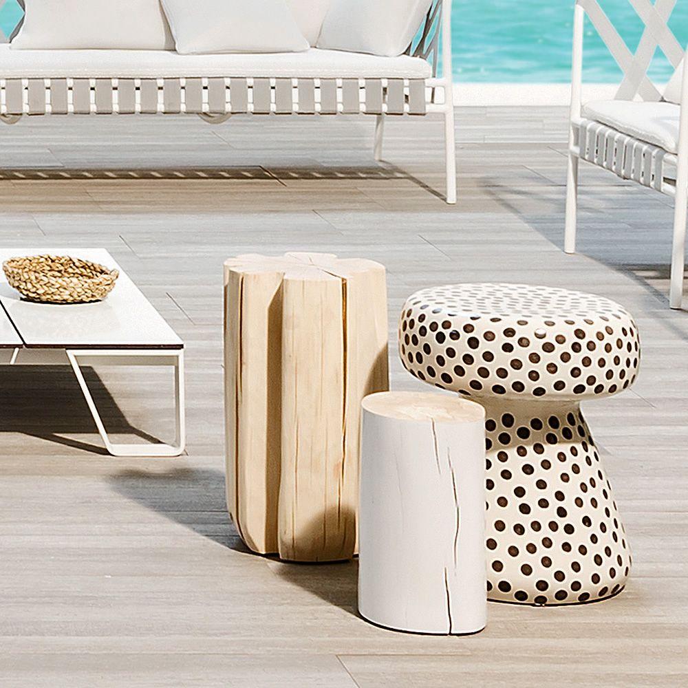 Tavolini Neri : Inout tavolino pouf gervasoni in ceramica anche per