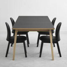 Slice-L - Tavolo fisso Normann Copenhagen in legno con piano in laminato, diversi colori e misure disponibili