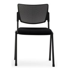 ML104 Soft - Chair for waiting room or conference hall, stackable, with padded seat, with or without armrests, available in various colours