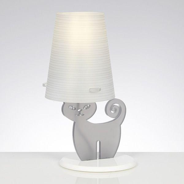 Catlamp | Lampada da tavolo in metacrilato, grigio opal