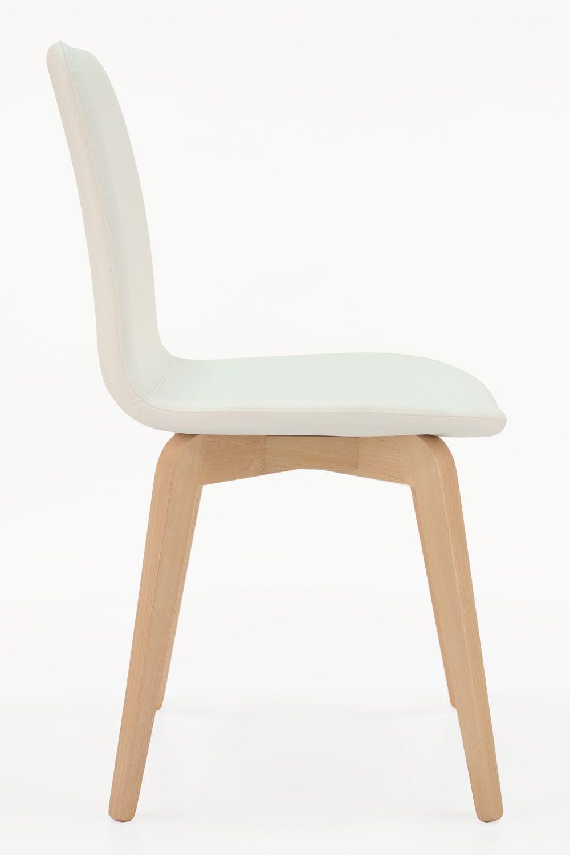 mu210 chaise moderne en bois assise rembourr e diff rentes teintes et rev tements disponibles. Black Bedroom Furniture Sets. Home Design Ideas