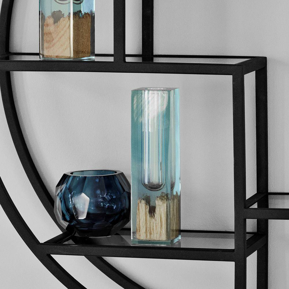 Circular librer a de pared en metal y cristal disponible - Pegar cristal y metal ...