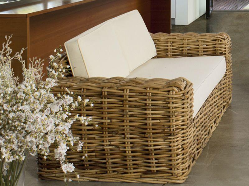 Cavazzo divano in rattan disponibile a 2 o 3 posti sediarreda - Divani in rattan per interno ...