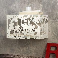 Flower C - Table de nuit suspendue en fer, en différentes couleurs
