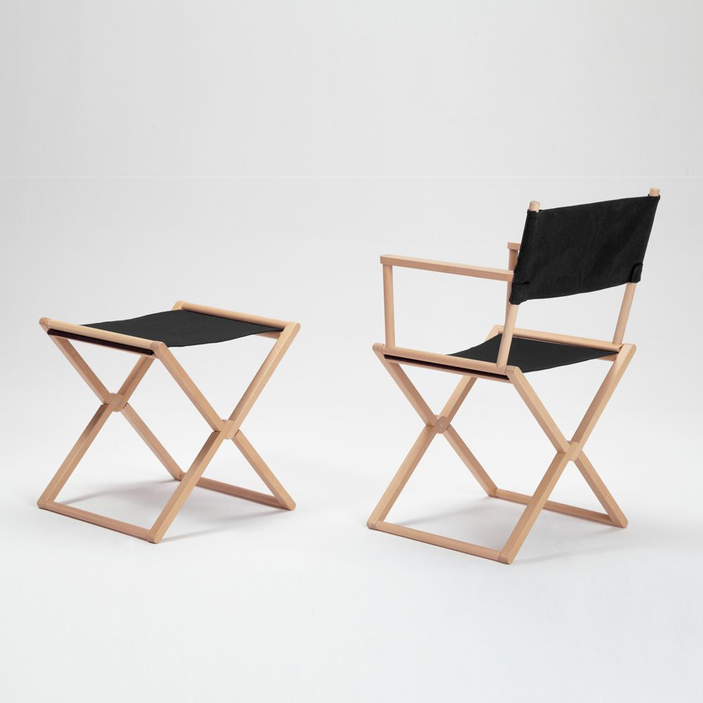 Missoni Home Outdoor Folding Chair Regista: Treee Set Stool: Low Stool, In Solid Wood, Also For Garden