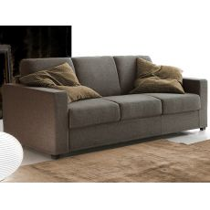 Abruzzo - Sofa bed, 3 seater, removable fabric or imitation leather covering