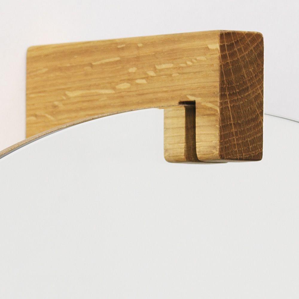 June specchio con gancio appendiabiti e mensola - Specchio in legno ...