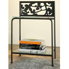 Flower D - Bedside table with floral decorations, in several colours
