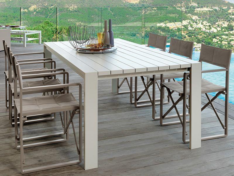Chic t2 mesa de aluminio para jard n en varias medidas for Mesa y sillas de aluminio para jardin