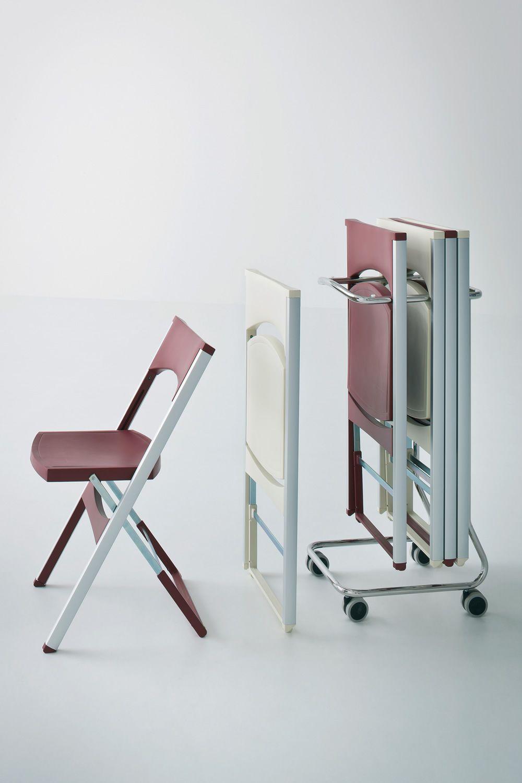 Compact chaise pliante pour ext rieur en m tal et polym re disponible en d - Chariot chaise pliante ...