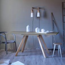 Ettore L - Tavolo rettangolare Miniforms in legno, allungabile, diverse dimensioni disponibili