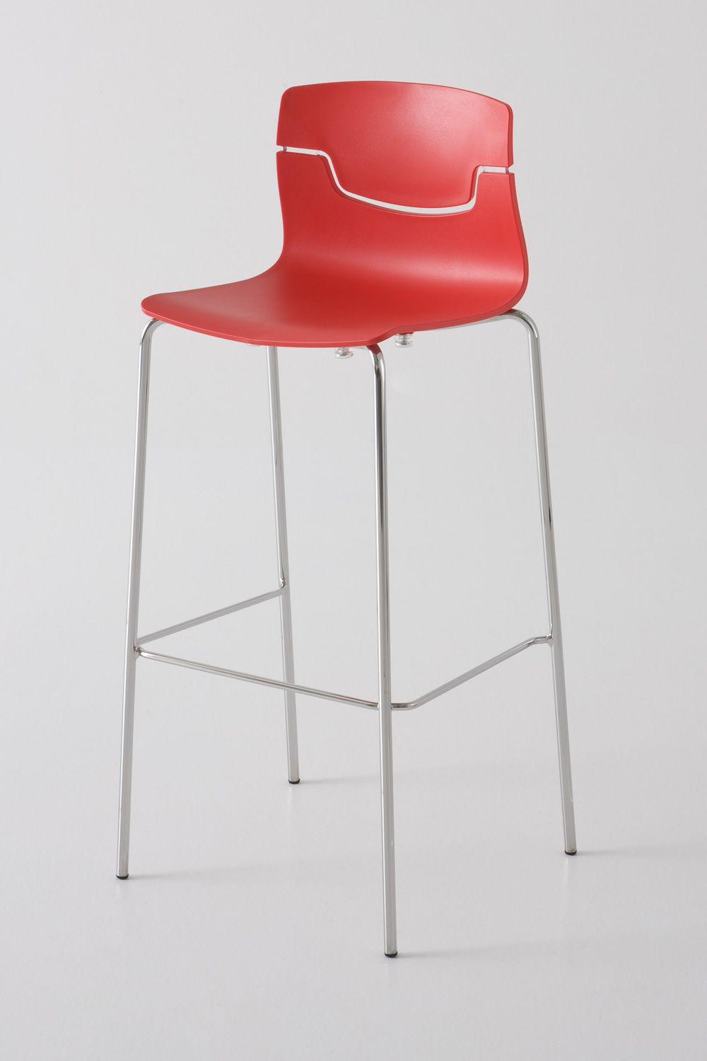 Slot S Stacking Metal Stool With Technopolymer Seat