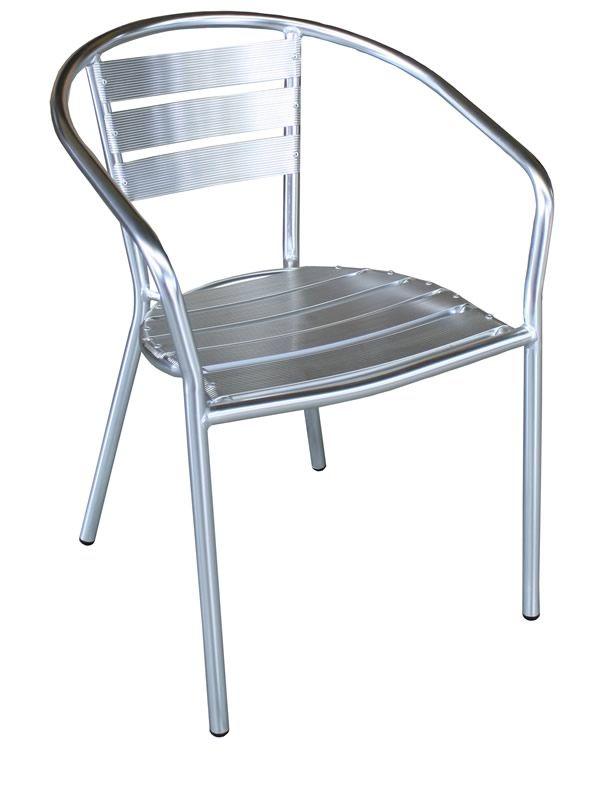Z alu chaise d 39 ext rieur empilable en aluminium sediarreda for Chaise exterieur