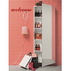 Welcome - Meuble entrée et porte-chaussures avec miroir, en différentes couleurs