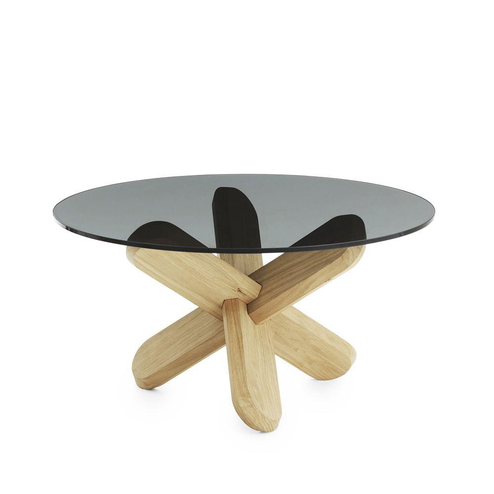 Ding - Tavolino da salotto Normann Copenhagen in legno con piano in vetro - Sediarreda
