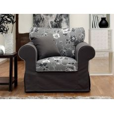 Alba  Poltrona - Classic armchair, with removable cover