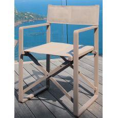 Chic - R - Chaise réalisateur en aluminium et textilene, pliante, en différentes couleurs, pour l'extérieur