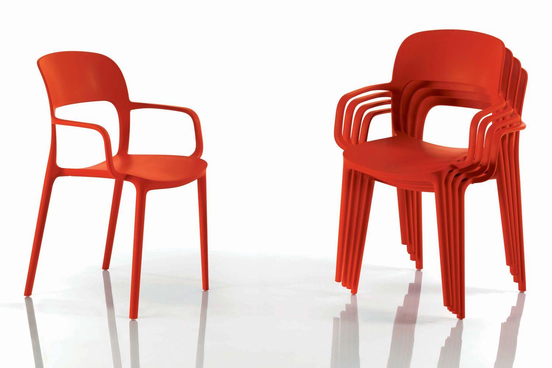 Gipsy - Stapelbarer Stuhl Bontempi Casa, mit oder ohne Armlehnen ...