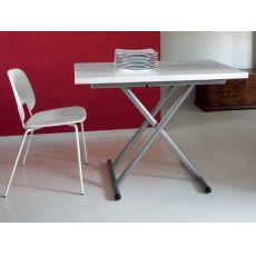 Sprite - Tavolo Domitalia in metallo con piano in melaminico, 110 x 70 cm regolabile e allungabile