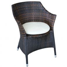 61530 - Outdoor armchair in aluminium and synthetic rattan, severl colours, with pillow, different colours available