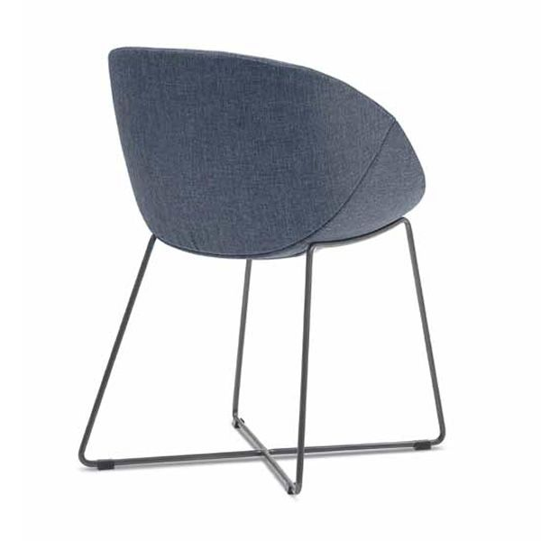 Coquille t chaise domitalia en m tal assise recouverte - Chaise metal couleur ...