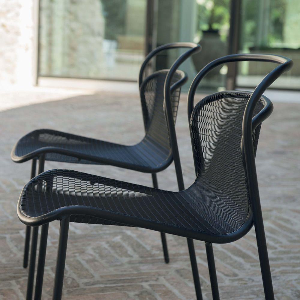 Modern 634 sedia emu in metallo impilabile anche per for Sedie moderne outlet