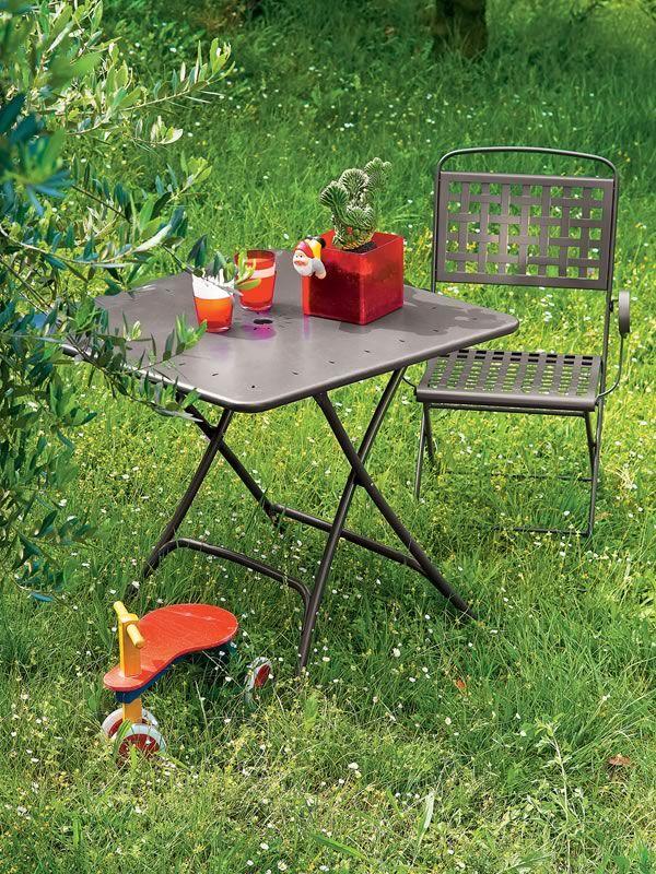 Pieghevole 2736 table pliante en m tal pour le jardin 80 for Jardin 80
