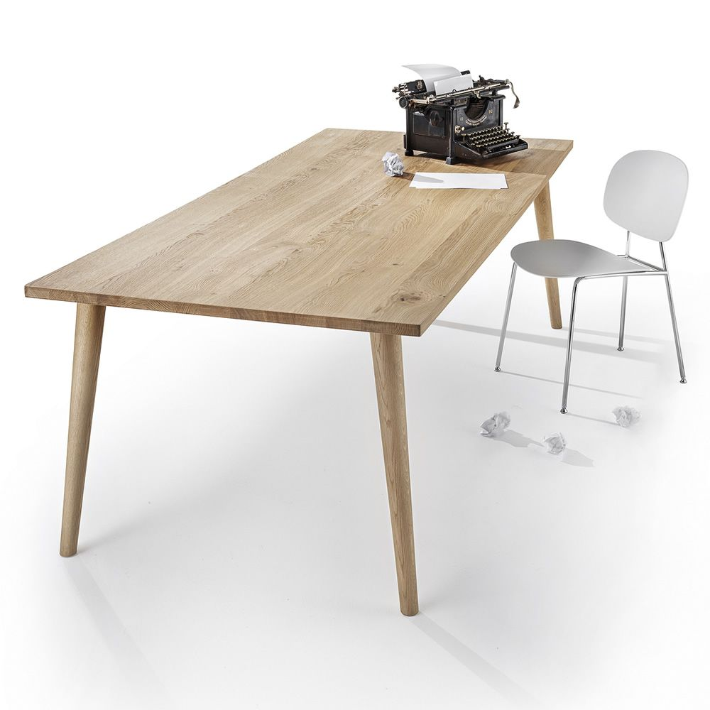 Next table tavolo fisso infiniti in legno di rovere for Misure tavolo