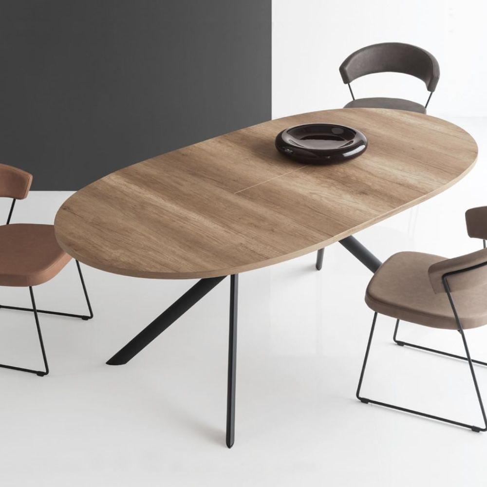 Cb4739 e giove table rallonge connubia calligaris en - Table ovale a rallonge ...