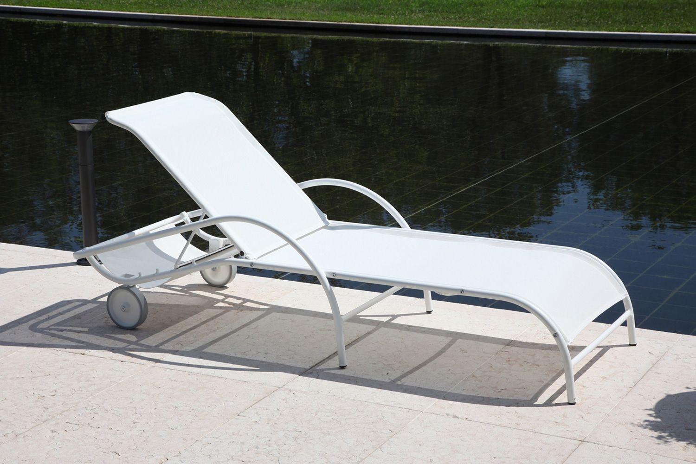Rig42 bain de soleil en m tal et textil ne empilable en diff rentes couleu - Bain de soleil metal ...