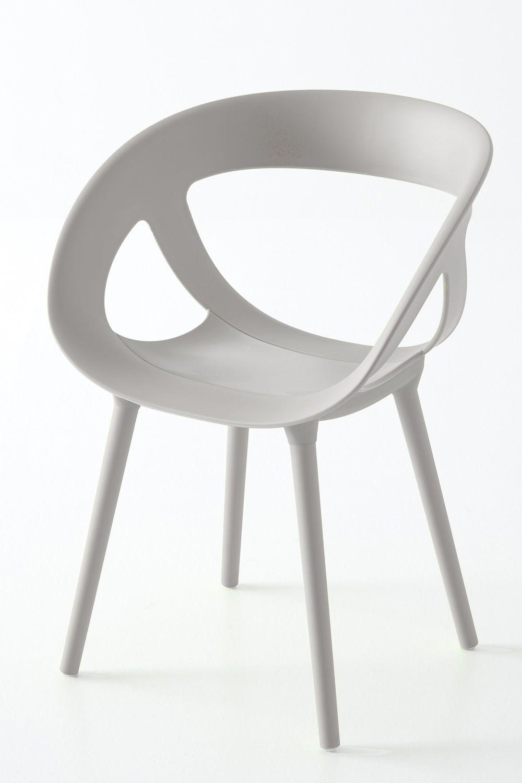 Moema bl poltoncina design in metallo e tecnopolimero for Sedia design bianca