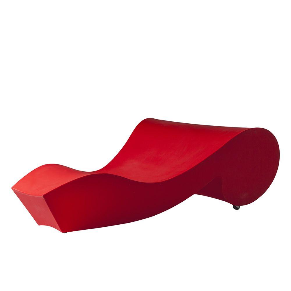 Rococ chaise longue avec roulettes slide en for Chaise longue speciale