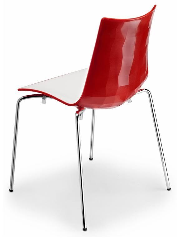 Zebra bicolour 2272 stapelbarer zweifarbige stuhl aus for Design stuhl rot